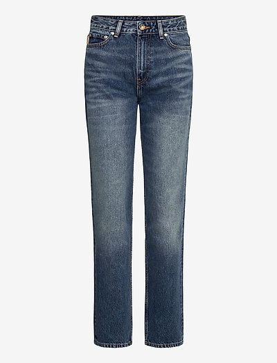 Washed Denim - straight regular - denim
