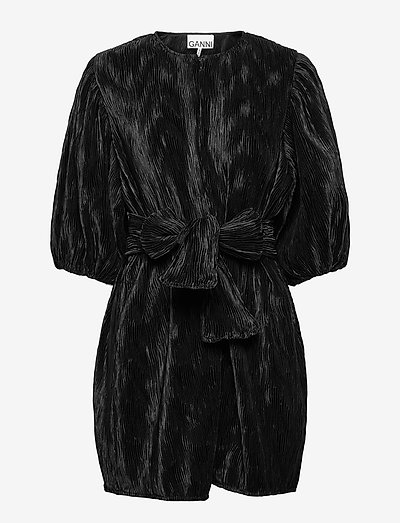 Pleated Satin - cocktailkleider - black