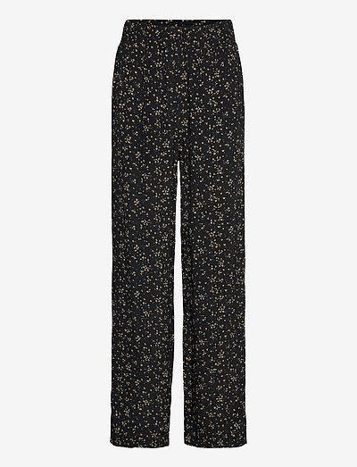Pants - bukser med lige ben - black