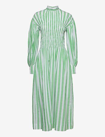 Stripe Cotton - maxi dresses - kelly green