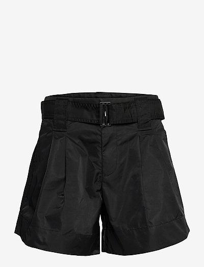 Outerwear Nylon - paper bag shorts - black