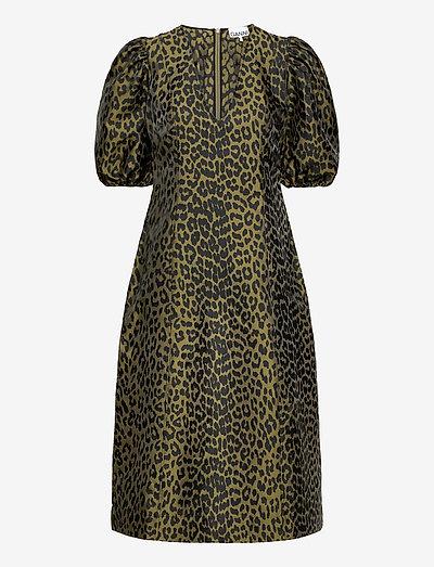 Crispy Jacquard - sommerkjoler - olive drab