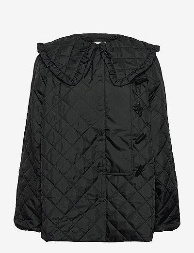 Coat - quiltede jakker - black