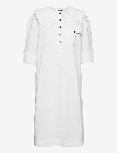 Cotton Poplin - sommerkjoler - bright white
