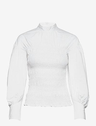 Smock Blouse - blouses met lange mouwen - bright white