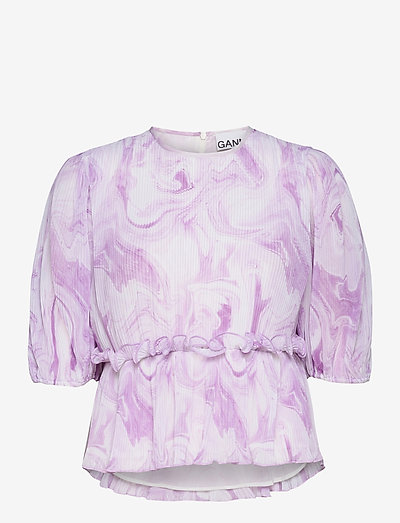 Blouse - short-sleeved blouses - orchid bloom