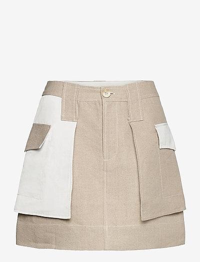Linen - kurze röcke - nature