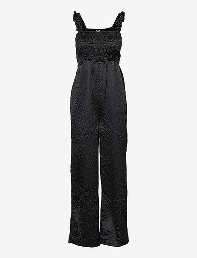 Crinkled Satin - tøj - black