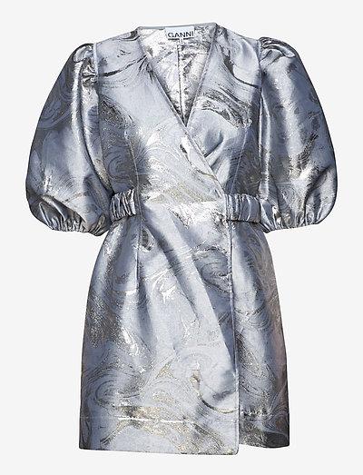 Shiny Jacquard - slå-om-kjoler - sharkskin