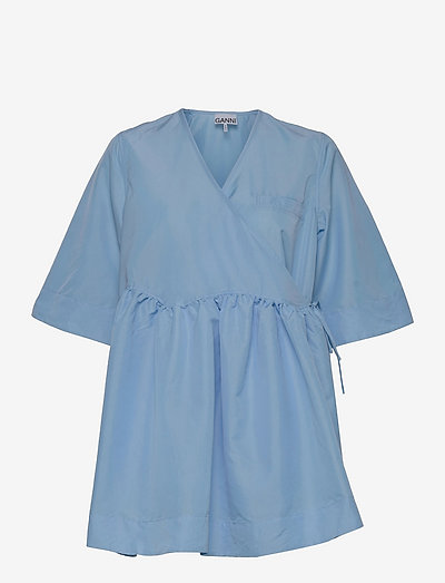 Crispy Taffeta - summer dresses - airy blue