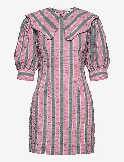 Cotton Seersucker - bodycon dresses - pink nectar