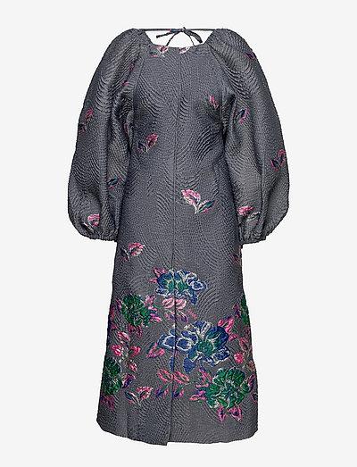 Structured Jacquard - maxi dresses - sharkskin