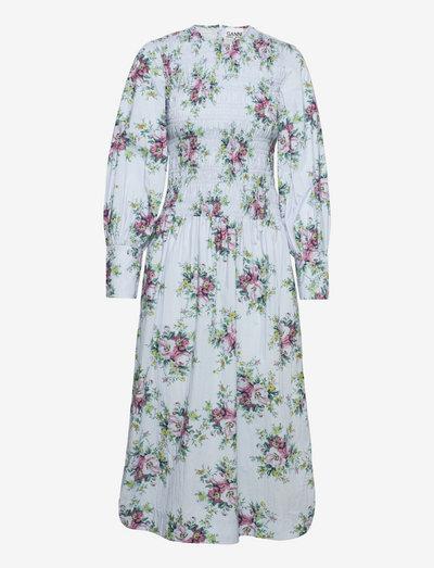 Printed Cotton Poplin - sommerkjoler - heather