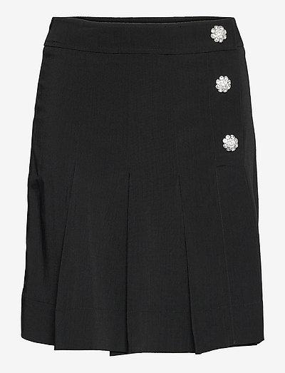 Melange Suiting - midinederdele - black