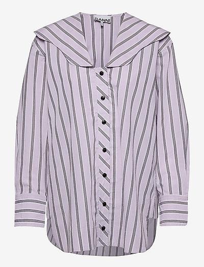 Stripe Cotton - denimskjorter - misty lilac