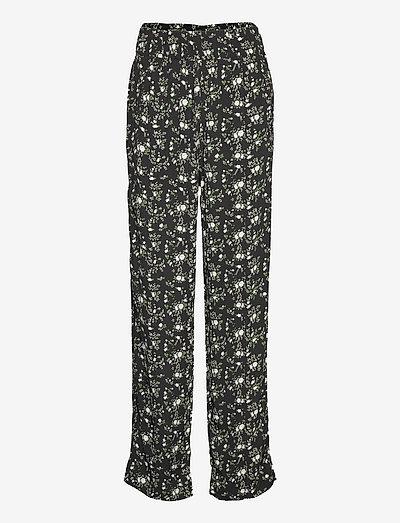 Printed Crepe - casual trousers - phantom