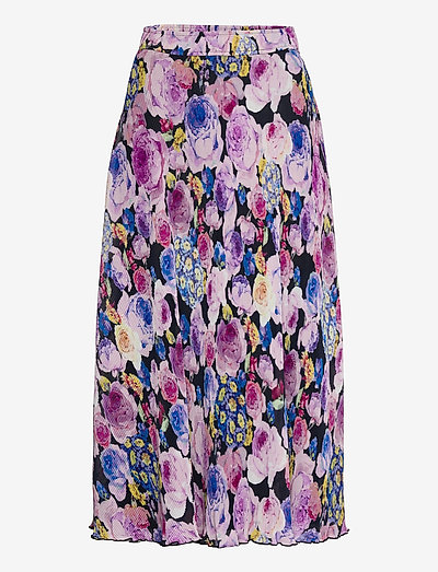 Pleated Georgette - midi skirts - multicolour