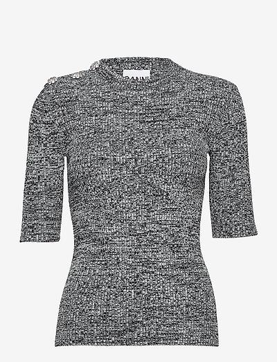 Melange Knit - sweaters - black