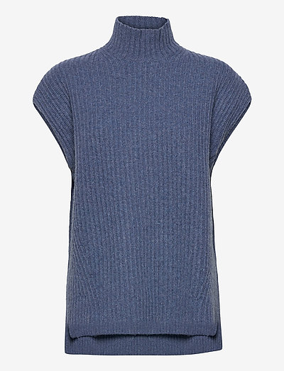 Rib Knit - strikveste - dutch blue