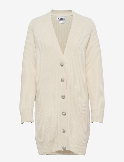 Rib Knit - cardigans - egret