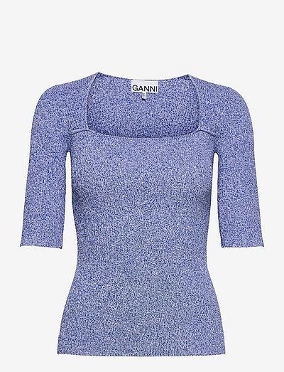 Melange Knit - kortærmede bluser - daphne