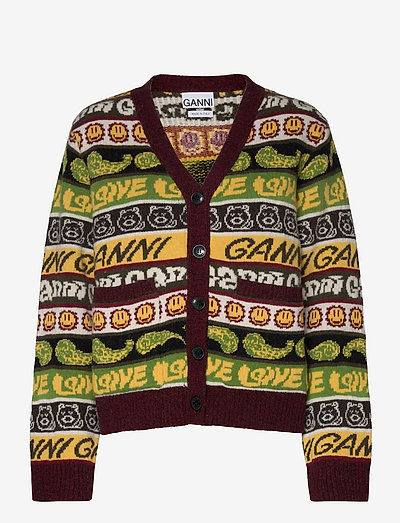 Wool Mix Knit - cardigans - multicolour