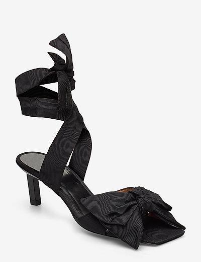Heeled Bow - højhælede sandaler - black