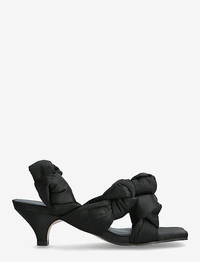 Recycled Satin - sandały na obcasie - black