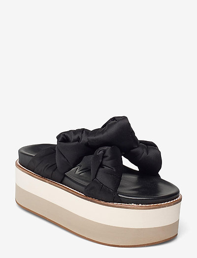 Recycled Satin - flade sandaler - black