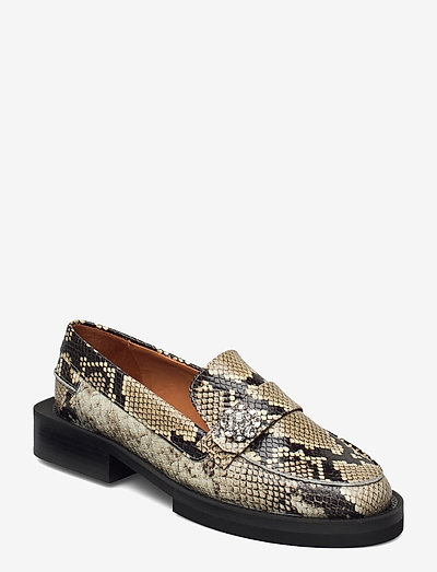 Embossed Snake - loafers - kalamata