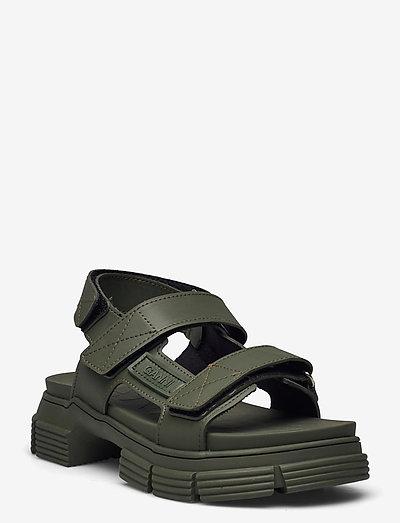 Recycled Rubber - płaskie sandały - kalamata