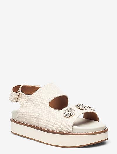 Juta - flache sandalen - egret