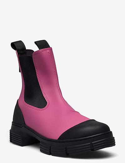 Recycled Rubber - stiefel - shocking pink
