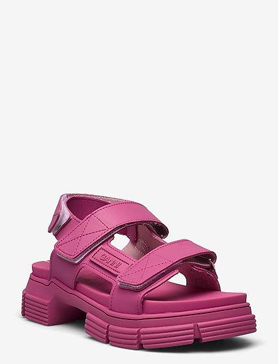 Recycled Rubber - płaskie sandały - shocking pink