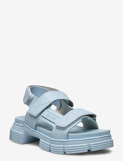 Recycled Rubber - płaskie sandały - corydalis blue