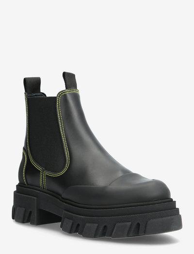 Calf Leather - chelsea støvler - black