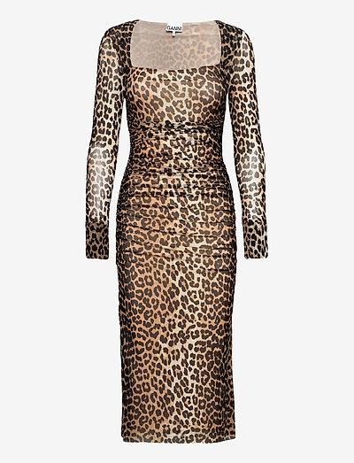 Printed Mesh - stramme kjoler - leopard