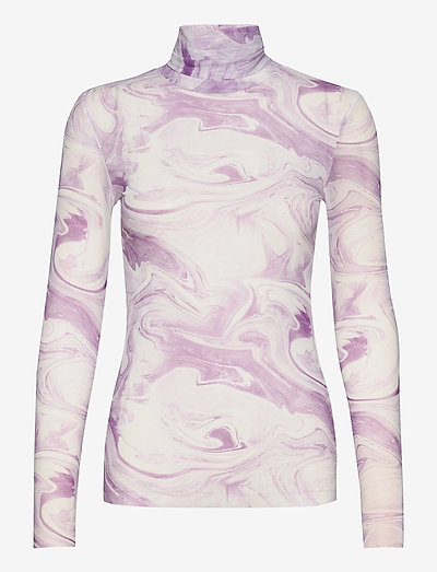 Rollneck - long sleeved blouses - orchid bloom