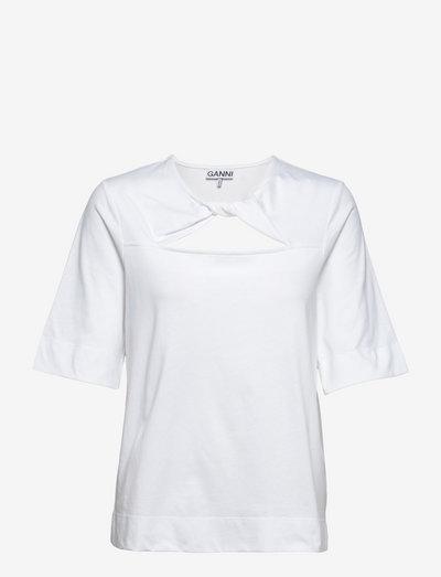 Basic Cotton Jersey - t-shirt & tops - bright white
