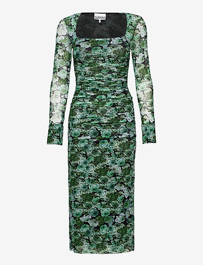 Printed Mesh - zomerjurken - kelly green