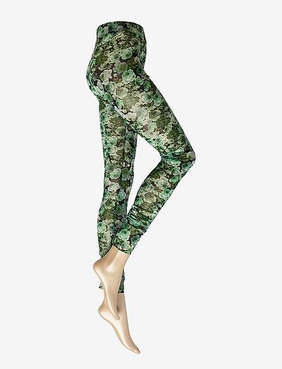 Printed Mesh - leggings - kelly green