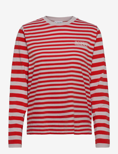 Thin Software Striped Jersey - langærmede toppe - high risk red