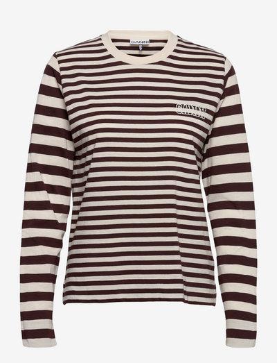 Thin Software Striped Jersey - langærmede toppe - mole