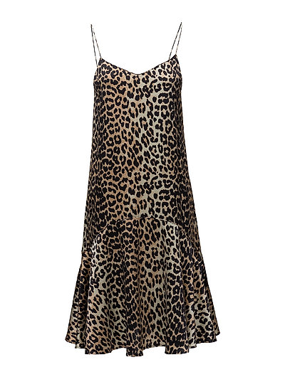 Dufort Silk Strap Dress - Leopard