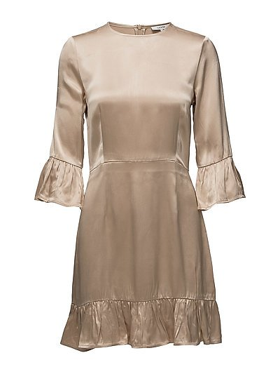 Leclair Satin Dress - Cuban Sand