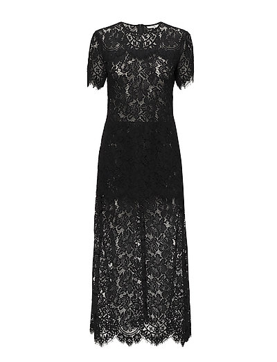Duval Lace Maxi Dress - Black