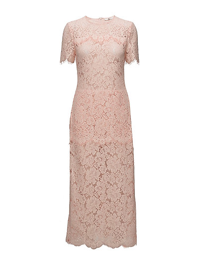 Duval Lace Maxi Dress - Cloud Pink