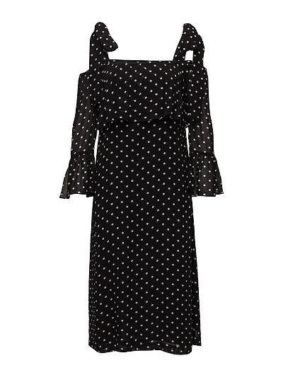 Monette Georgette Maxi Dress - Black