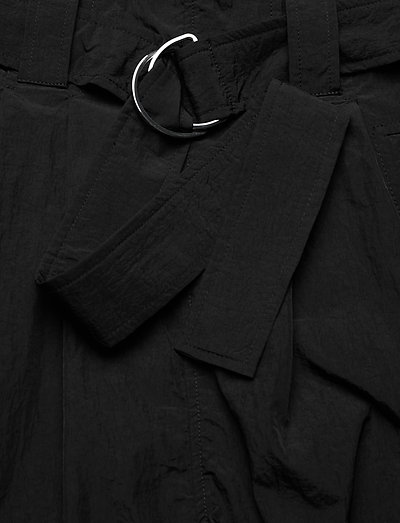 Ganni Crinkled Tech- Hosen Black