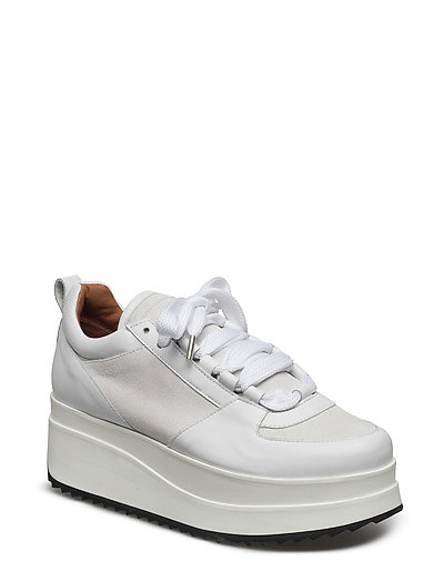 Naomi Leather Sneakers - BRIGHT WHITE